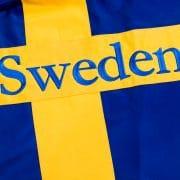 Ridtäcke-sweden-flagga-brodyr