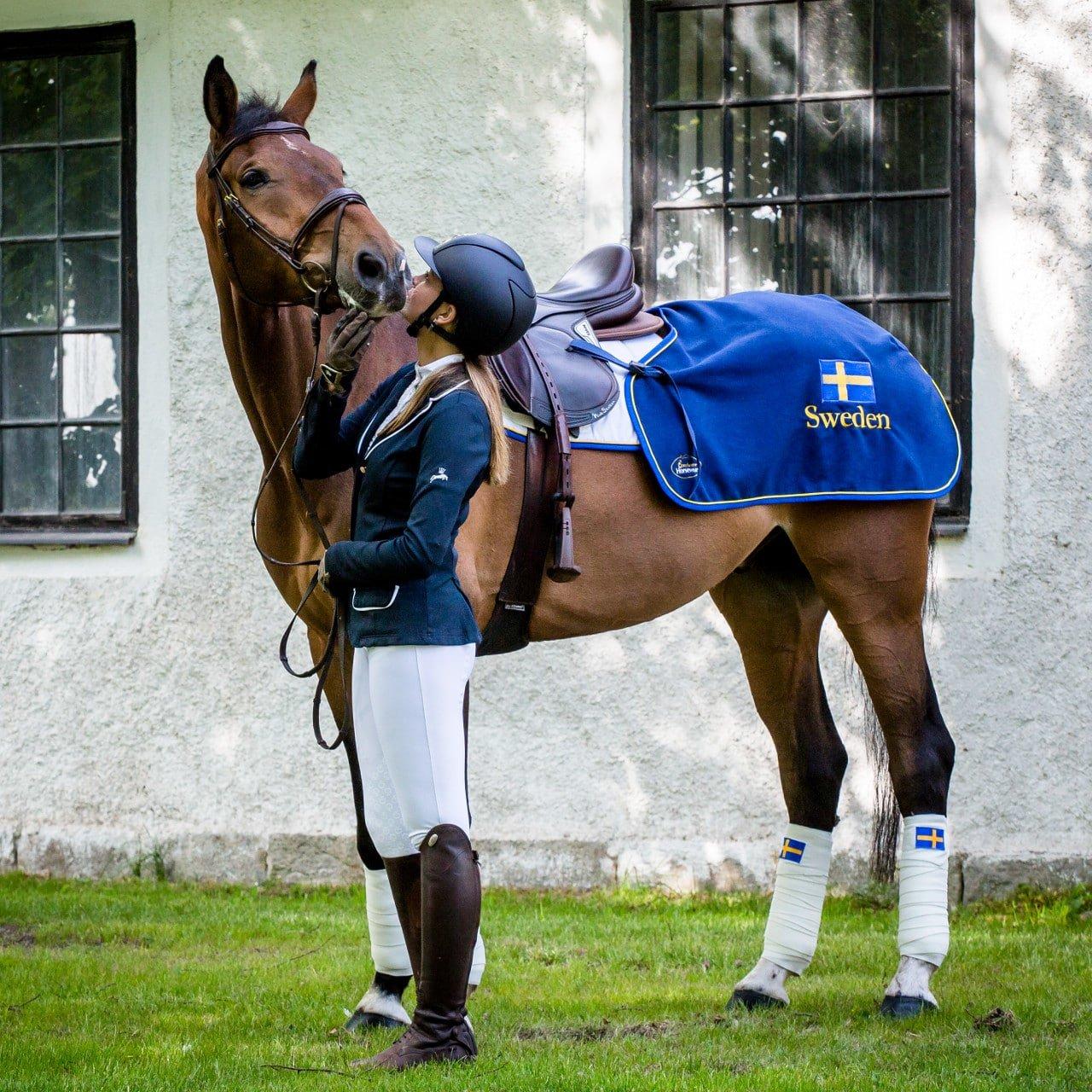 Exculsive Horseware på Björnöslott med ländtäcke Sweden